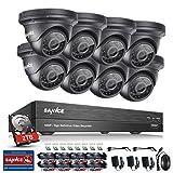 ANNKE Kit Sorveglianza 3MP DVR TVI 8 Canali 8 Dom Camera 1080P HD TVI Telecamera di sicurezza con obiettivo da 3,6 mm, 66ft IR-Cut Chiara visione notturna, IP66 uso interno ed esterno 2TB HDD