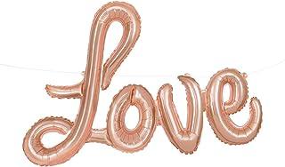 """Unique Party Air Filled 'Love' Foil Balloon, Rose Gold, 90cm (36"""")"""