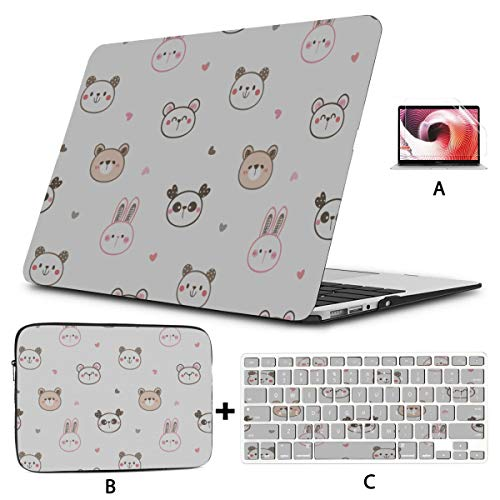 Estuche rígido para computadora portátil Panda Chino Conejo Animal Protector de Macbook Carcasa Dura Mac Air 11'/ 13' Pro 13'/ 15' / 16'con Funda para portátil para Macbook Vers