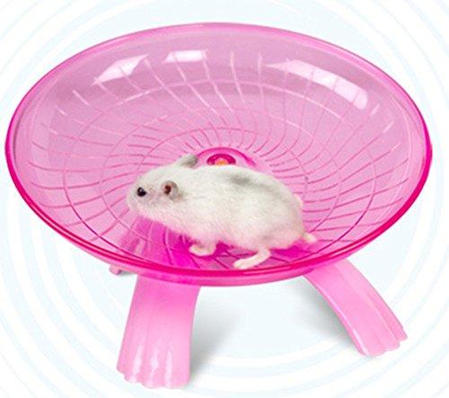 PetKids Hamster-Übungsscheibe für Degus, Spielzeug mit Halterung aus Edelstahl, Kunststoff, Stummschaltung, für Hamster, Chinchillas, Ratten