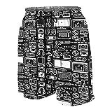 JOSENI Hombres Personalizado Trajes de Baño,Consolas de Videojuegos Retro Gamer, PC, Controladores, joysticks y gamepads,Casual Ropa de Playa Pantalones Cortos