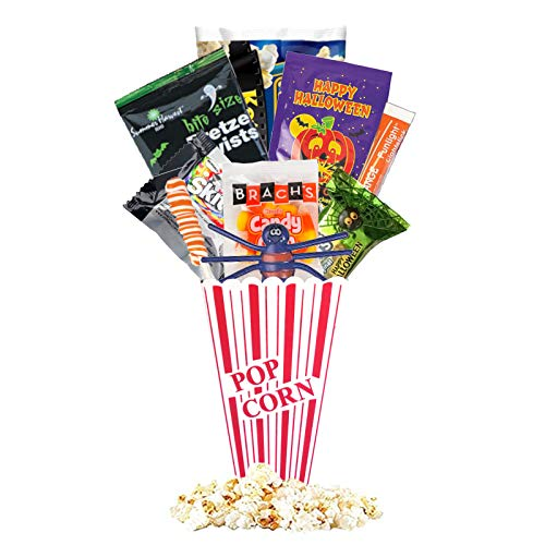 Halloween Movie Night Spooky Basket With Candy Plus Free Redbox Movie Rental Code Gift Card