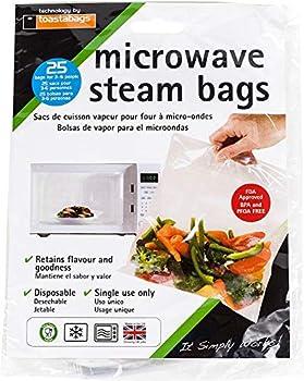 Microwave Steam Bags - 25 Pack