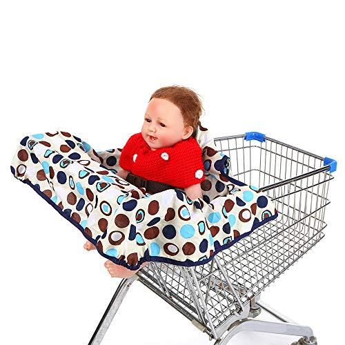 Leebaby - Cobertor para Carro de la Compra con cinturón de Seguridad Ajustable, Acolchado antisuciedad con Puntos, Incluye Bolsa de Transporte para bebés, niños y niños