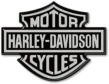 3d Resin Stickers Emblem Logo Für Motorrad Tank Kompatibel Mit Harley Davidson 95x70 Silber Auto