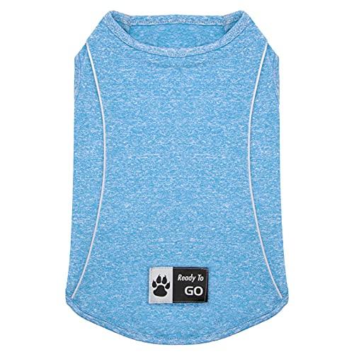 kyeese Dog Shirt Quick Dry Reflective Soft Dog T-Shirt Tank Top Breathable Sleeveless Vest Cat Shirts
