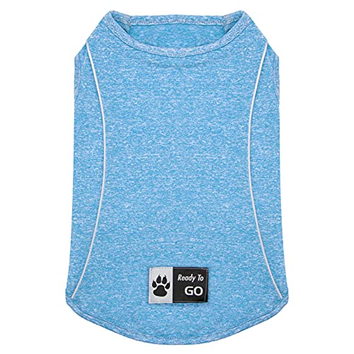 KYEESE Dog Shirt Soft Breathable Dog T-Shirt with Reflective Strip Safety for Night Walking Tank Top Vest Cat Shirt