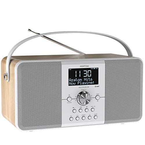AZATOM Multiplex D2 DAB+ FM Digital Radio & Alarm Clock - Bluetooth 5.0 -...