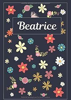 Beatrice: Agenda Personnalisé   Journal   120 pages   A4   Blanc   Idées Cadeaux
