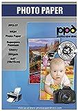 """PPD Inkjet - 4 x 6"""" (aprox. 10 x 15 cm) x 50 Hojas de Papel Fotográfico 260 g/m² Brillante - Calidad Profesional - Secado Instantáneo - Para Impresión de Inyección de Tinta - PPD-27-50"""