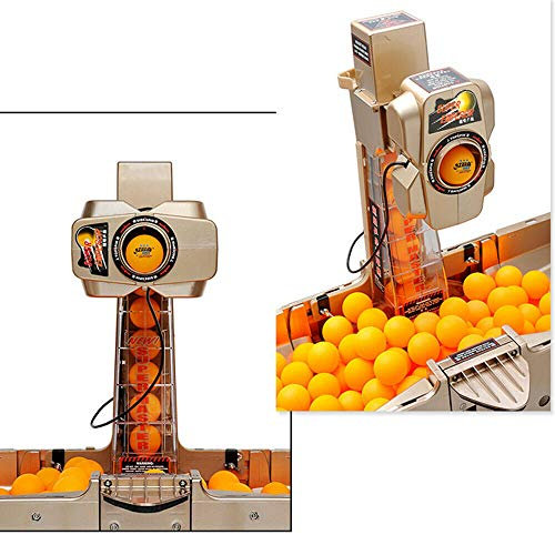 Great Price! YIYIBYUS Multifunction Ping Pong Auto Ball Machine for Pro Training Robot with Collection Net, 30-120 Balls Per Minute, Steel,40 mm Balls,Remote Control Wired,36 Type Spins