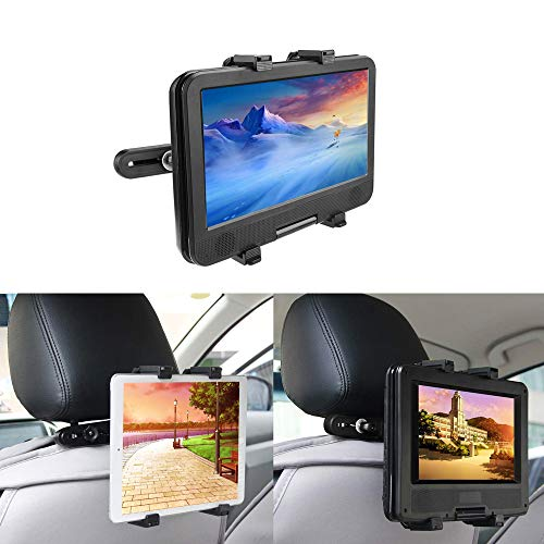 Auto Kopfstützenhalterung bedee Tablet Halterung Verstellbare Kopfstütze Halter Universal für Tragbare DVD-Player, Apple iPad Mini/Air 2 /Air/4/3/Pro Samsung Galaxy Tab Kindle Fire, 7-12 Zoll Tablets