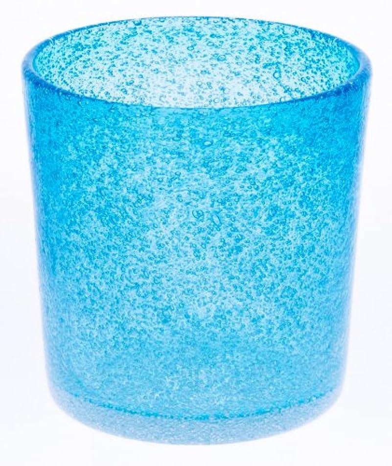 きゅうり汚れた同情アールジーシー(RGC) 泡ロックグラス 水色 85×85mm