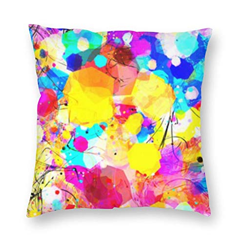 BONRI Colorful Texture Curved Square Pillow 24'X24' Square pillowcase decoration, comfortable and relaxing rest, warm companionship