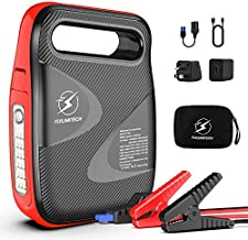 Car Jump Starter, FLYLINKTECH 2500A Peak 24000mAh Powerful Portable Auto Battery Starter (up to All Gas or 8.0L Diesel Engine) with 100W AC Outlet - 12V UL Certified Car Battery Power Booster Pack