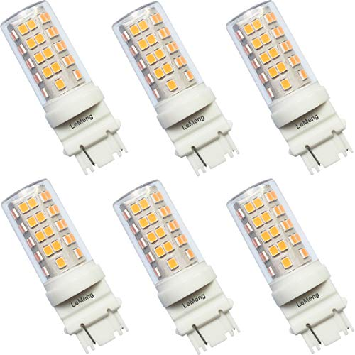 LeMeng 5Watt S8 3156 Wedge Base LED Light Bulb 12VAC/DC Low Voltage(2700K Warm White) 500Lumens,35-50watt Halogen Equivalent,Outdoor Landscape Pathway Driveway Deck Step Paver Lighting-6 Pack
