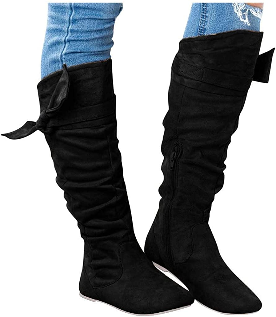 NLOMOCT Reservation Boots for Women Wholesale Ankle Knotted Flat Zipper Booties Side
