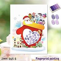 ZJN-JNウォールステッカー 3Dステッカー3D 指紋は、ウォールステッカー壁紙クリスマス老人フィンガークリエイティブ指紋がW、絵画ホームデコレーション絵画絵画 デコレーション