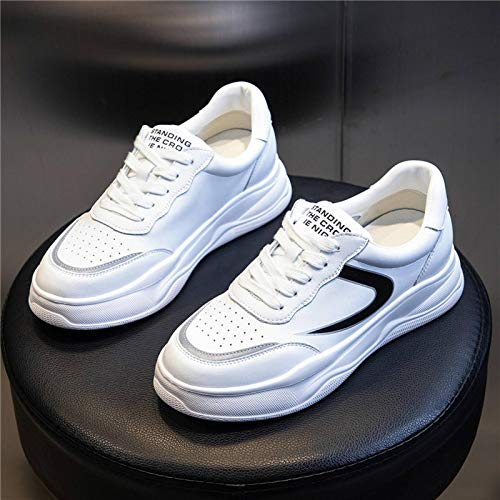 N-B Women's Shoes Spring Sports Shoes - Zapatos de piel sintética para mujer, color blanco