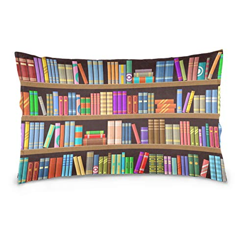 Bardic Rulyy Fundas de cojín coloridas estantería educativa, 40,6 x 61 cm, 50,8 x 76,2 cm, rectangular, funda de almohada para sala de estar, cama, sofá, sofá, fundas de almohada decorativas, Varios Colores, 20x26in