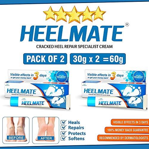 Heelmate Cracked Heel Repair Specialist Cream Smooth Feet, Freedom from Dry Cracked Heels (Pack of 2)