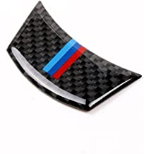 S-WEKA Carbon Fiber Steering Wheel Sticker M Stripe Emblem 3D Car Sticker for BMW e60 e61 5 Series
