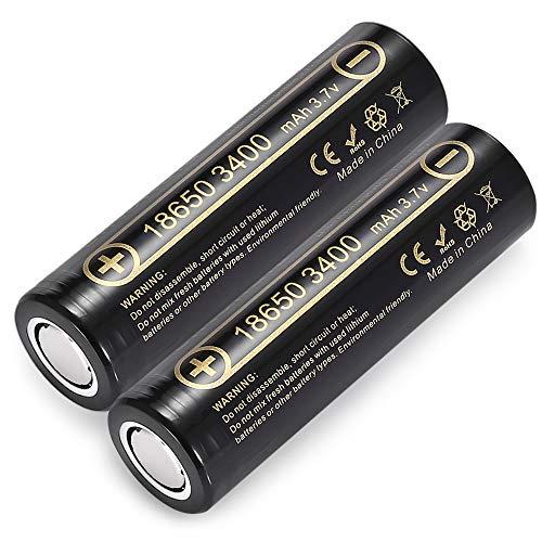 Liitokala Lii-34A 3.7V 18650 Batteria 3400Mah per NCR18650B 34B Batteria Ricaricabile Pile per Torce Torcia Lampada (2 Pezzi)