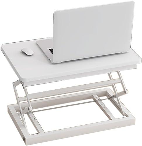 La Table Multi-Fonction De Bureau D'ordinateur Portable De Taille Réglable De Support Peut S'asseoir Ou Se Tenir sur Une Table Portative (Couleur   Blanc)