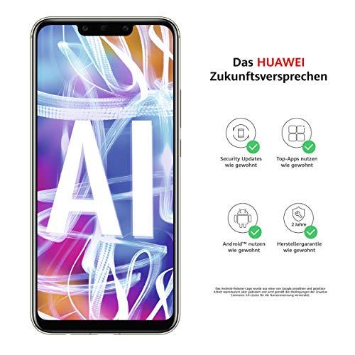 Huawei Mate20 lite Dual Nano-SIM Smartphone BUNDLE (16 cm (6.3 Zoll), 64GB interner Speicher, 4GB RAM, 20MP + 2MP Kamera, Android 8.1, EMUI 8.2) Platinum Gold [Exklusiv bei Amazon] - Deutsche Version