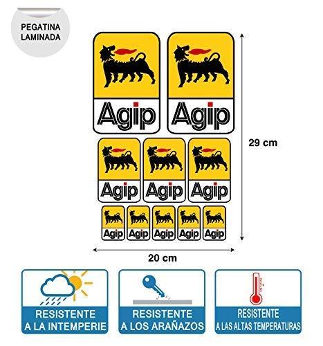 Kit sticker compatibel met Agip folie afdrukken digitale bladen 20 cm x 29 (10 stickers)