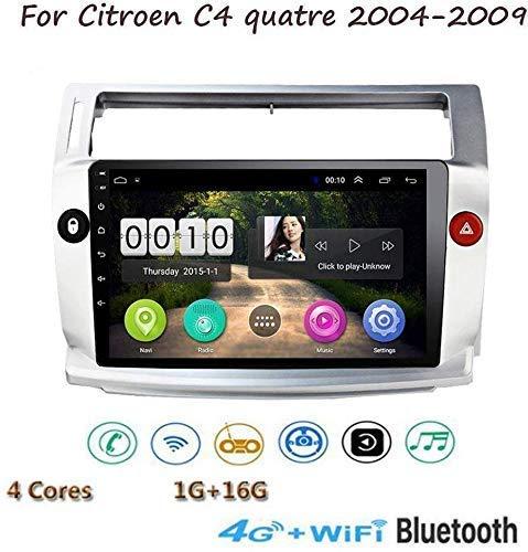 DSP Estéreo de Coche para Citroen C4 Quatre 2004-2009 Doble DIN en la rociada GPS Navigation Música Radio 9'HD de Pantalla táctil Reproductor Multimedia Espejo Enlace Control del Volante