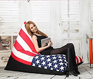 Bean bag chair for adult bean bags lazy bag sofa 35.4x57x24 inches (uk falg)