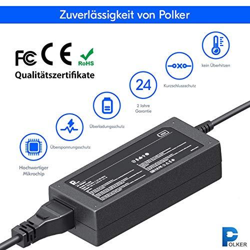 Polker Ladegerät für Laptop Asus 19v 2.37A 45W (4.0 x 1.35) | Ladekabel ac Asus | Adapter Asus 45 Watt
