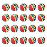 <span class='highlight'><span class='highlight'>LILI</span></span>S Rainbow Colored Soft Golf Balls,Practice Golf Balls,for Indoor/Outdoor Practice Golf Ball Playground Toy Foam Balls. (Size : 20pcs)