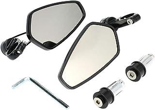 """Par de motocicleta Universal 7/8"""" guiador final espelho retrovisor CNC alumínio 360° rotação suporte espelhos retrovisores"""