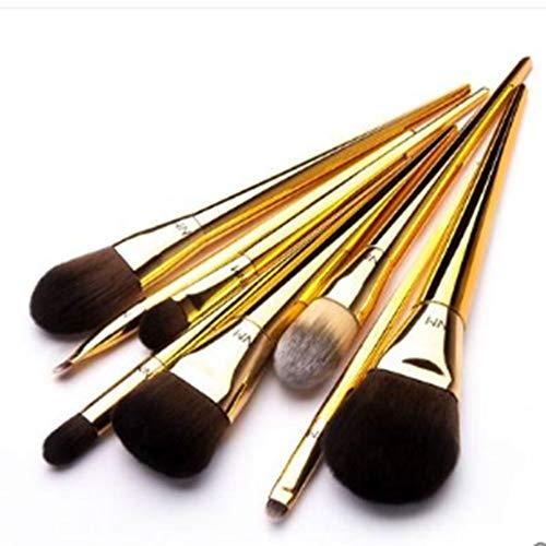 ZYFF huazhuangshua 8pcs Pinceaux De Maquillage, Pinceau De Mise en Surbrillance des Ombres À Paupières Éclaircir Le Pinceau De Maquillage pour Peluche Douce (Couleur : Brass)