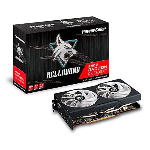 PowerColor Hellhound Radeon RX 6600XT Gamer-Grafikkarte, AMD, 8GB, GDDR6