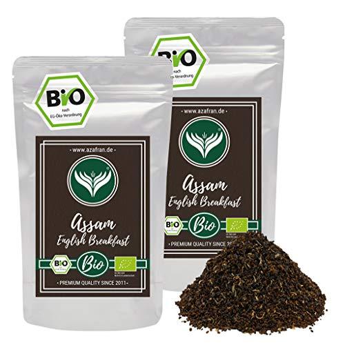 Azafran BIO Assam Schwarzer Tee - English Breakfast Tea - Ostfriesentee 500g