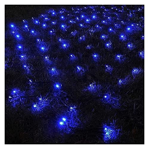 Luces de red de Halloween, luces de red solar, luces de cortina de hadas, luces impermeables for el jardín for la gazebo Patio Fiesta Festival Decoraciones, blanco cálido, 3m * 2m Guirnalda