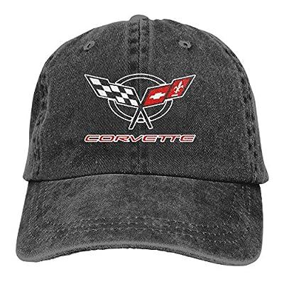 Unisex Adjustable Retro Cowboy Hat Corvette Logo Stylish Baseball Cap