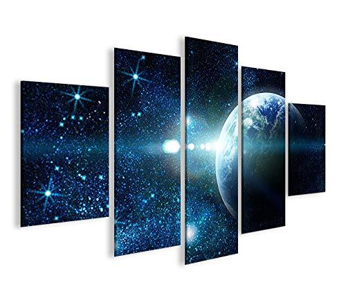 islandburner Bild Bilder auf Leinwand Sterne Weltall Space MF XXL Poster Leinwandbild Wandbild Dekoartikel Wohnzimmer Marke