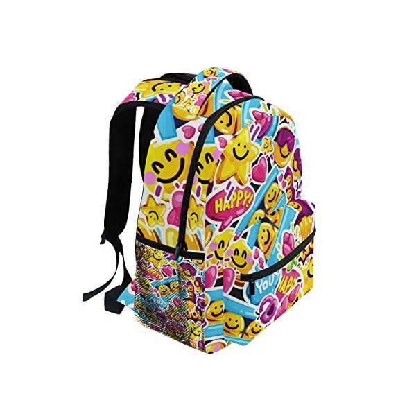 51R01DtZ5zL. SS600  - Mochila Escolar con diseño de Emoji de Gran Capacidad, Mochila de Viaje Casual, Mujeres, Hombres, niñas y niños