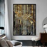 N / A Abstrakte Kunst Goldenes Zebra Nordic Modern Style