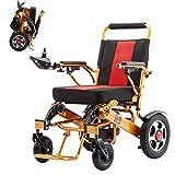 silla de ruedas Silla de ruedas eléctrica, silla de ruedas eléctrica ligera y plegable, batería de litio de 24V 20Ah, rango de 15 millas, para ancianos y discapacitados J h
