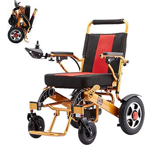 Silla de ruedas eléctrica, silla de ruedas eléctrica ligera y plegable, batería de litio de 24V 20Ah, rango de 15 millas, para ancianos y discapacitados ghk