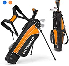 Tangkula Junior Complete Golf Club Set for Children Ages 11 and Up, Right Hand, Includes 3# Fairway Wood, 7# & 9# Irons, Putter, Head Cover, Golf Stand Bag, Perfect for Children, Kids, Boys & Girls
