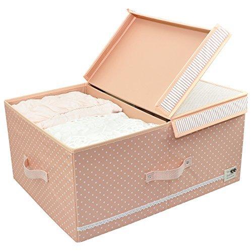 Caja de almacenamiento plegable debajo de la cama para guardarropas, separadores extraíbles con velcro, 60L, Menta verde
