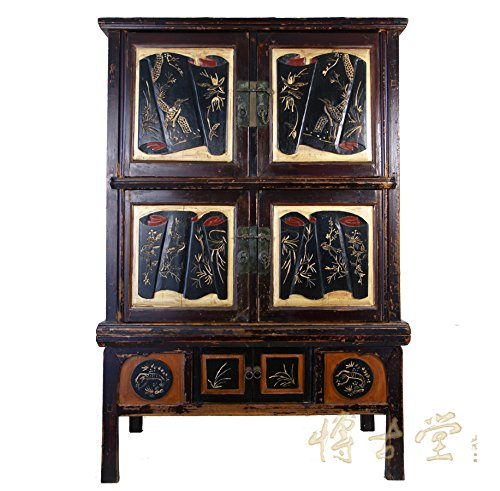 Best Review Of Chinese Antique Carved Zhejiang Armoire 11LP06