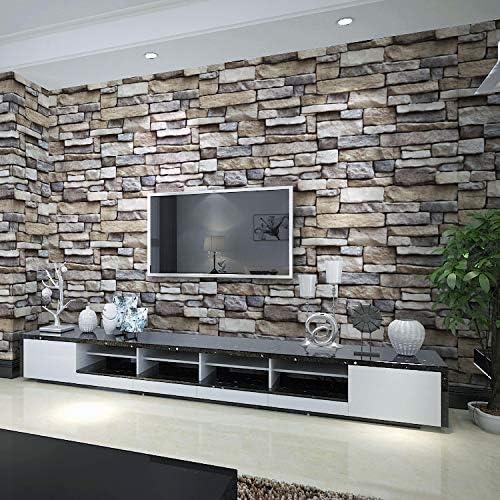 WOW Interiors Self Adhesive, Peel and Stick Stone Wallpaper, 400 x 45 cm