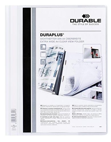 DURABLE Hunke & Jochheim Angebotshefter DURAPLUS®, strapazierfähige Folie, DIN A4 (10 Stück, weiß)
